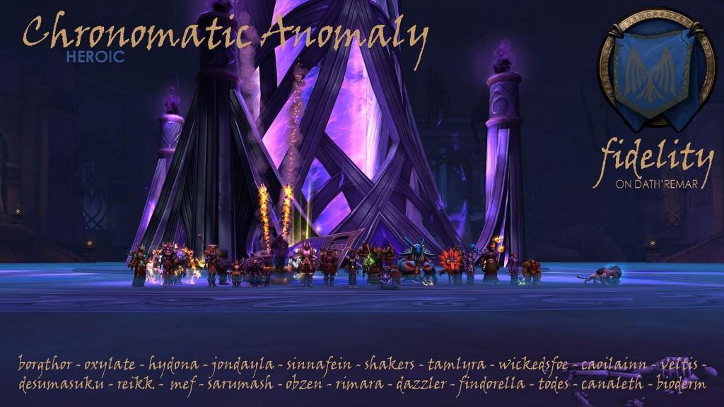 Heroic Chronomatic Anomaly Fidelity